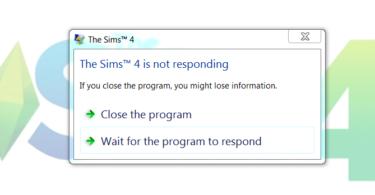 sims 4 not responding