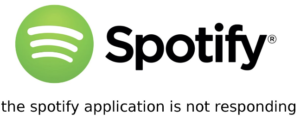 spotify application not responding