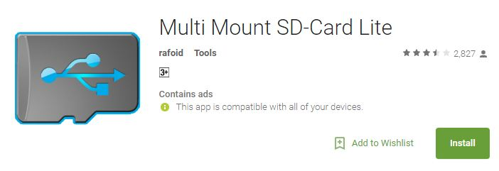 SD Card Mounter Apk