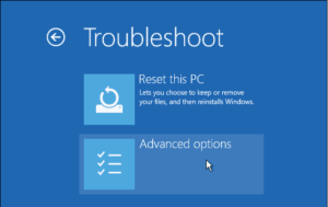Windows 10 safe mode advanced options