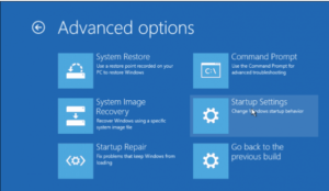 Startup Settings Windows 10 safe mde