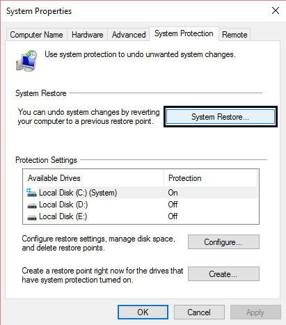 how to take your computer back to an earlier date