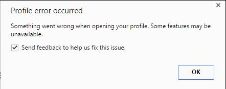 Profile Error Occurred