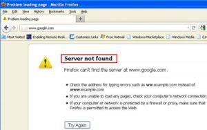 DNS Server not Found