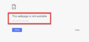 Chrome ERR_CONNECTION_RESET Error-Windows Resolve