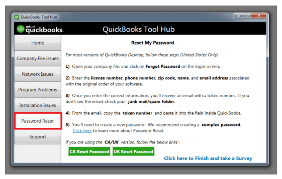 Password retrieving of qb tool hub
