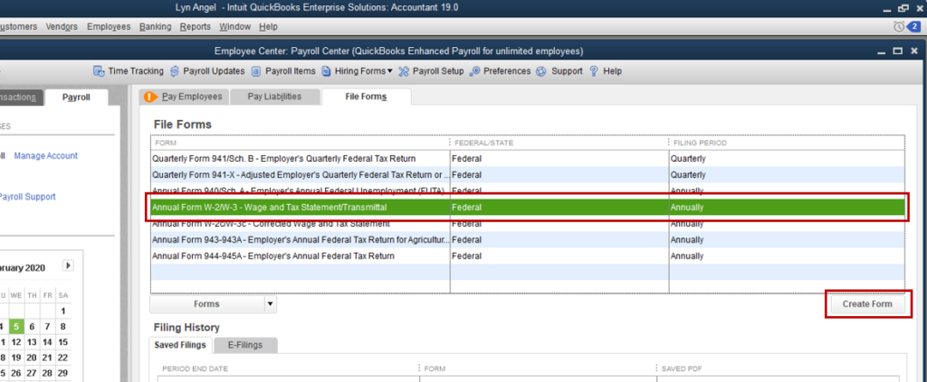 Requirements for IRS- reprint w2 quickbooks