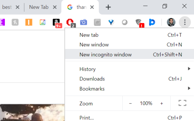 Use Incognito Window in Chrome Browser- Disable Firewall Protection