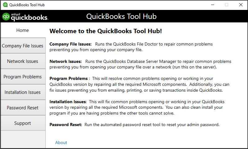 QuickBooks Desktop Tools Hub
