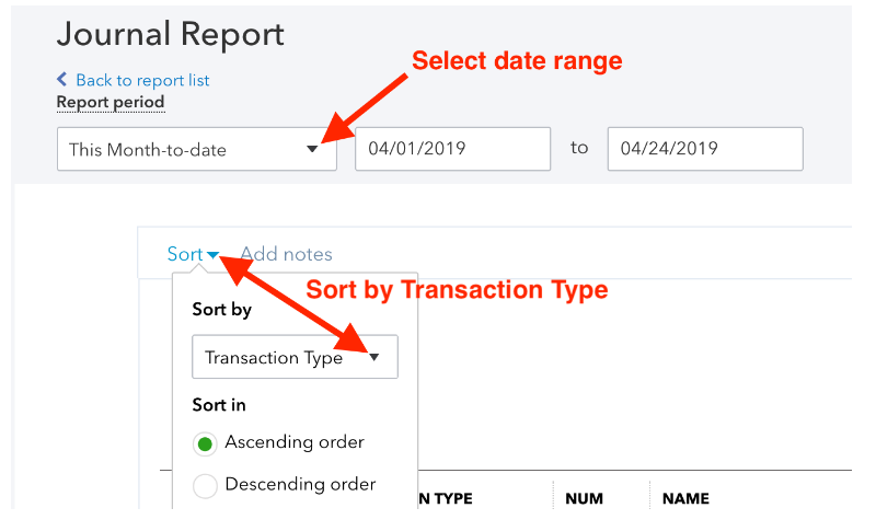 transaction type- adjusting journal entries in quickbooks