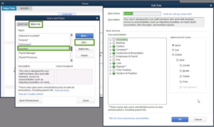 Set up users and roles in QuickBooks