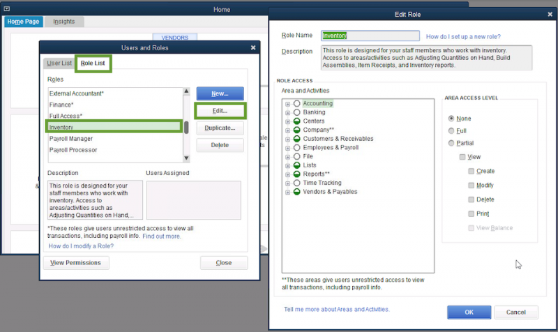 Set up users and roles -how to open quickbooks nd and tlg file without qbw file 201