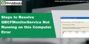 qbcfmonitorservice not Running